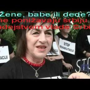 Шабац под опсадом жена у црном и полицијских снага довољним за ослобадјање Косова ИМетохије
