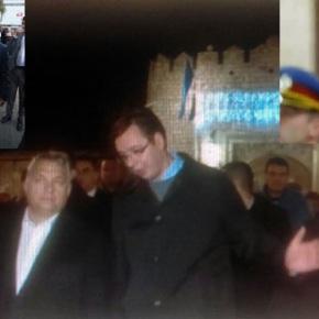 Вучићев ФолсФлег за Орбана а ла Нушић- Наређење СНС статистима: Ајде бре шетај се у круг и диви се Вођи….